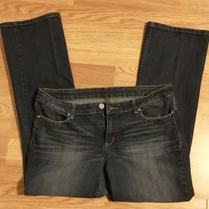 LEI juniors 17 short, boot cut jeans like new